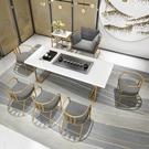 新中式茶桌椅組合現代簡約禪意功夫茶臺茶幾辦公室實木泡茶桌輕奢【頁面價格是訂金價格】