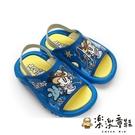 【樂樂童鞋】【台灣製現貨】MIT可愛兒童拖鞋-藍 C026 - 現貨 台灣製 男童鞋 女童鞋 學步鞋 小童鞋