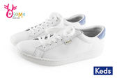 Keds休閒女鞋 皮革 小白鞋 鄭秀晶代言帆布鞋H9870#白藍◆OSOME奧森童鞋