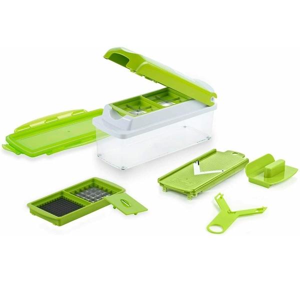 [9美國直購] 12 件組 蔬果切菜器 Nicer Dicer Magic Cube By Genius 12pcs Fruit And Vegetable Slicer