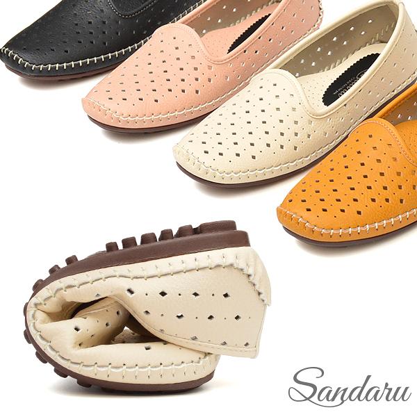 訂製鞋 柔軟洞洞懶人豆豆鞋-米
