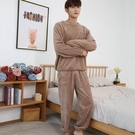 男士睡衣冬款男士套裝情侶珊瑚絨睡衣秋冬家居服長袖保暖衣加絨加厚暖暖褲 快速出貨