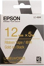 LK-4BKK EPSON 緞帶系列黑底金字標籤帶(寬度12mm) C53S654441