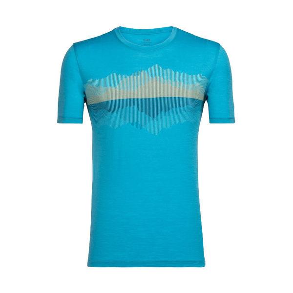Icebreaker Tech Lite SS 美麗諾羊毛短袖排汗衣 男 山峰倒映 地中海藍