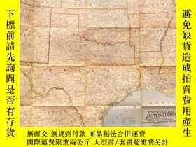 二手書博民逛書店罕見national geographic 美國國家地理地圖1947年12月South Central Unite