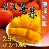 【南紡購物中心】屏東枋山外銷級愛文芒果2.5公斤x2盒(小9-10顆/盒)