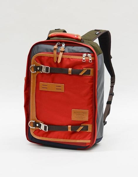 MSPC(master-piece) POTENTIAL-v2 No.01752v2-RED [高機能素材拼後背包-紅色]