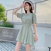 連身短褲女夏季2021新款韓版寬鬆學生高腰寬管休閒百搭連衣褲 米娜小鋪