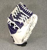 「野球魂中壢店」--「ZETT」特別訂製棒球壘球手套(內野手,39SP0225,紫藍×白色,工字檔)