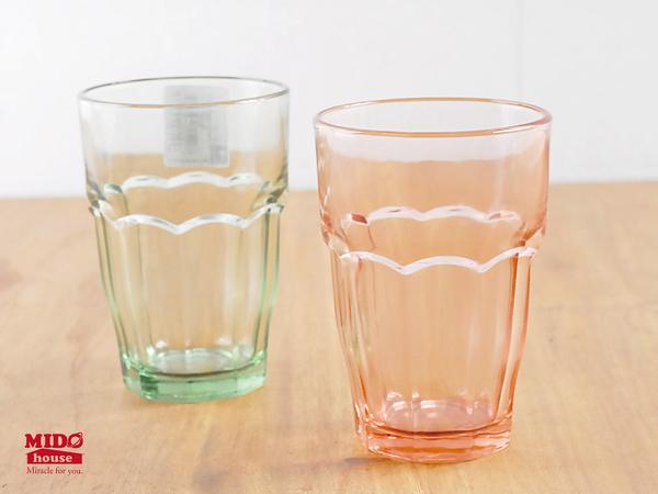 義大利Bormioli Rocco進口玻璃Rock Bar Lounge系列強化彩色玻璃杯/水杯/果汁杯/(370ml)《Midohouse》