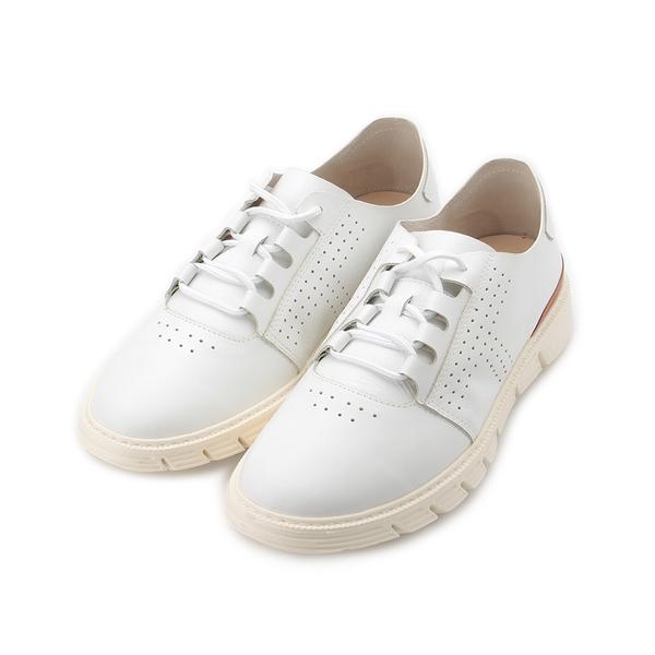 TANGO 真皮小洞休閒鞋 白 6034 男鞋 鞋全家福