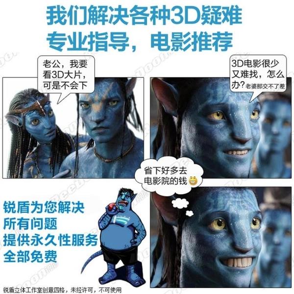 三D紅藍眼鏡3d普通電腦專用高清電視影院電影片立體眼睛通用