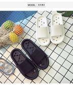 簡約家居拖鞋女夏防滑浴室拖鞋室內居家用情侶洗澡塑料漏水涼拖鞋   夢曼森居家