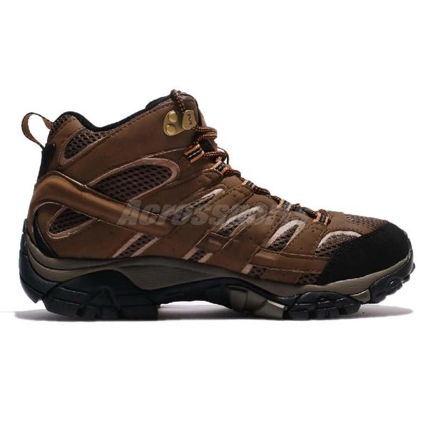 Merrell 戶外鞋 Moab 2 Mid GTX 咖啡 黑 Vibram大底 健行 登山鞋 男鞋 【ACS】 ML06063