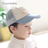 寶寶帽子夏鴨舌帽0-6-12個月嬰兒遮陽帽1-3-5歲兒童帽棒球薄網格