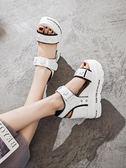 涼鞋女夏季新款韓版百搭學生內增高鞋羅馬坡跟厚底涼鞋  野外之家igo