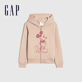 Gap女童 Gap x Disney 迪士尼系列連帽上衣 672352-桃粉色