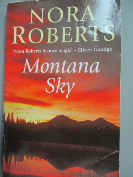 【書寶二手書T7/原文小說_GSD】Montana Sky_Nora Roberts