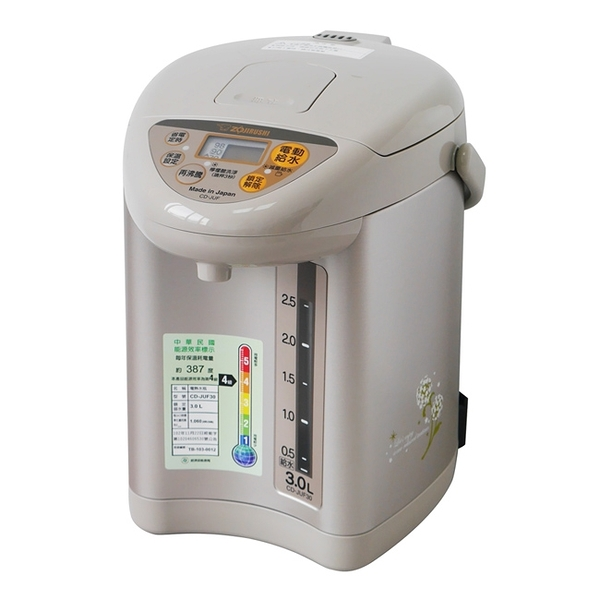 【象印】3公升微電腦電動給水熱水瓶 CD-JUF30-CT