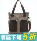 韓潮頂級棉麻包系列~斜肩揹包 淺咖【AC12034】i-style居家生活