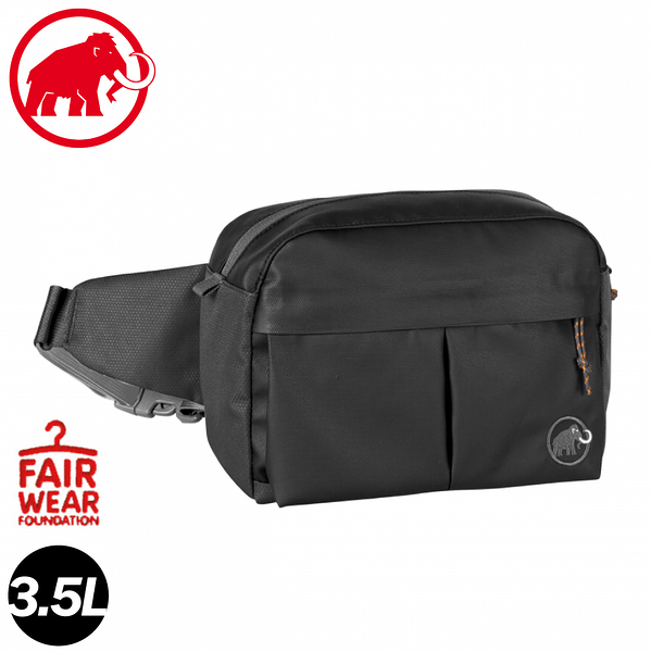 【MAMMUT 長毛象 Waistpack Urban 3.5L 腰包 《黑》】2520-00510/休閒背包/旅遊
