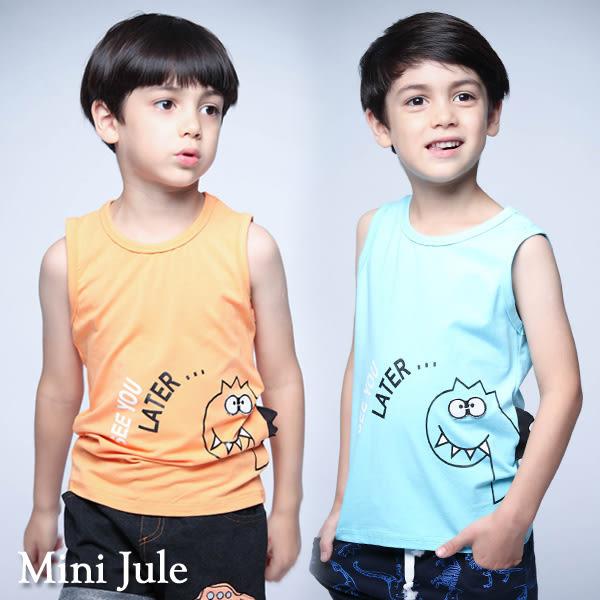 童裝 背心 恐龍側立體背鰭無袖背心(共2色) Azio Kids 美國派 童裝