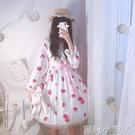 蘿莉裝原創Lolita草莓塔洋裝高腰jsk吊帶裙可愛甜美少女雪紡洋裝 NMS蘿莉小腳丫