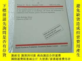 二手書博民逛書店Biotechnology罕見Letters 生物技術信函Y22