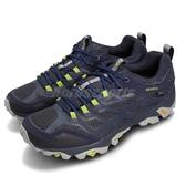 Merrell 戶外鞋 Moab FST GTX 藍 綠 Gore-Tex 防水 透氣 越野 休閒鞋 運動鞋 男鞋【PUMP306】 ML35767