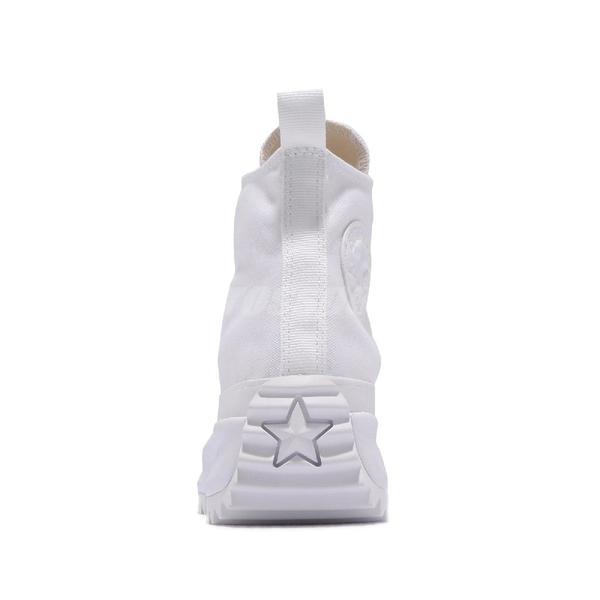 Converse 休閒鞋 White Mono Run Star Hike 全白 白 厚底增高 小白鞋 女鞋 【ACS】 170777C