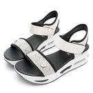 PLAYBOY夏日焦點 高雅水鑽氣墊涼鞋-白(Y7277)