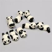 雙十二狂歡 新品陶瓷熊貓筷托筷架多款造形熊貓筷子架餐具擺臺日用品枕托 挪威森林