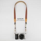 Sozor數碼相機肩帶 微單反背帶復古文藝牛仔減壓相機帶卡片機掛繩 鹿角巷