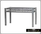 {{ 海中天休閒傢俱廣場 }} C-99 摩登時尚 餐桌腳系列 486-17 方管富貴餐桌腳/烤黑/烤銀腳