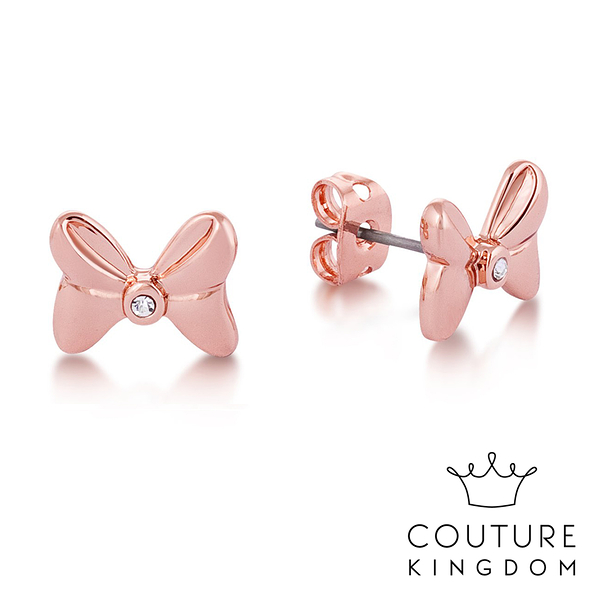 Couture Kingdom 迪士尼 米妮水晶蝴蝶結耳釘(玫瑰金) Disney Minnie Mouse Crystal Bow Studs
