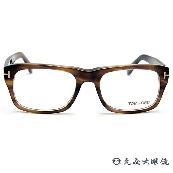 TOM FORD 眼鏡 TF5353 (透棕) 經典T字 近視眼鏡 久必大眼鏡
