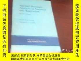 二手書博民逛書店實用統計學罕見方差分析和迴歸 英文版Y14502 OLIVE J