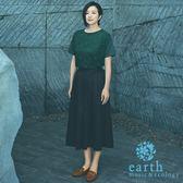 ❖ Autumn ❖ 【SET ITEM】鈴木京香著用款-蕾絲拼接短袖上衣+素面寬褲裙 - earth music&ecology