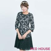 RED HOUSE-蕾赫斯-七分袖蕾絲洋裝