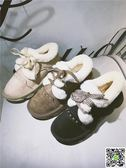 雪地靴 2018秋冬季韓版新款雪地靴原宿學生鞋子毛毛短靴加絨棉鞋豆豆鞋潮 印象部落