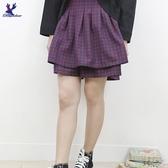 【秋冬新品】American Bluedeer - 鬆緊腰格子裙 二色