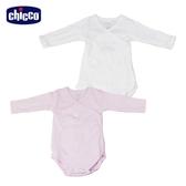 chicco-粉彩系列-前側開長袖連身衣二入-粉