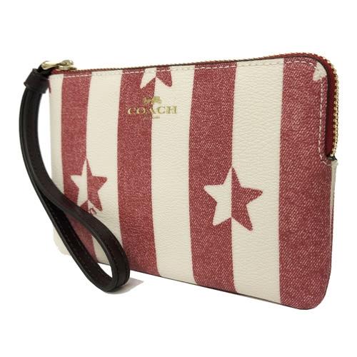 【COACH】星星印花手拿零錢包(星星)