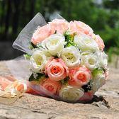 結婚用品婚紗影樓攝影拍照道具結婚慶婚禮清晰新娘伴娘手捧花拋花  居家物語