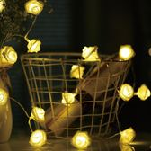 玫瑰花led小彩燈婚房錶白求婚浪漫裝飾串燈閃燈房間臥室婚慶布置 快速出貨全館免運