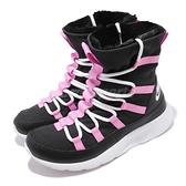Nike 休閒鞋 Venture GS 黑 粉紅 靴子 毛料內裡 運動鞋 大童鞋 女鞋【ACS】 AQ9493-002