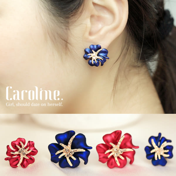 《Caroline》★時尚奢華.風格獨具.光彩亮麗時尚耳環68853
