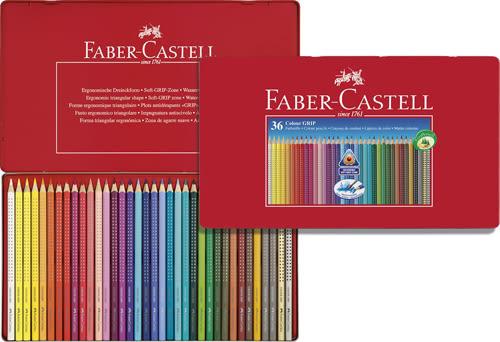 輝柏FABER-CASTELL-2001握得住水彩色鉛36色鐵盒裝