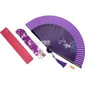 摺扇 扇子中國風女扇真絲手繪古典小絹扇和風工藝禮品扇 卡菲婭