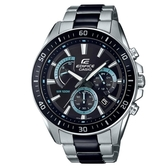 【CASIO】 EDIFICE 時尚大錶面極速大道不鏽鋼腕錶-黑面(EFR-552SBK-1A)